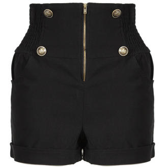View Item Black Military High Waisted Shorts