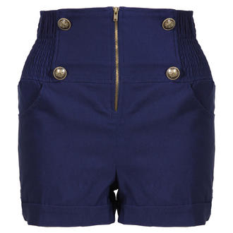 View Item Blue Military High Waisted Shorts