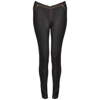 View Item Black Denim Leggings