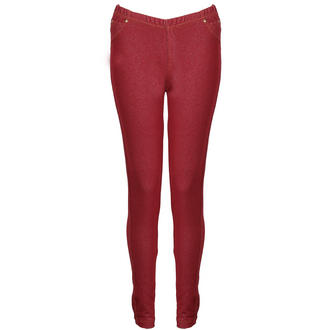 View Item Red Berry Denim Leggings