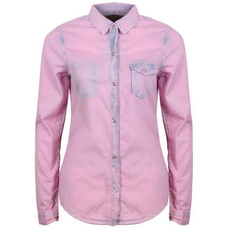 View Item Pink Faded Denim Shirt