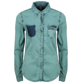 View Item Green Faded Denim Shirt