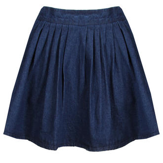 View Item Dark Blue Denim Skater Skirt