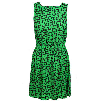 View Item Green Floral Sleeveless Dress