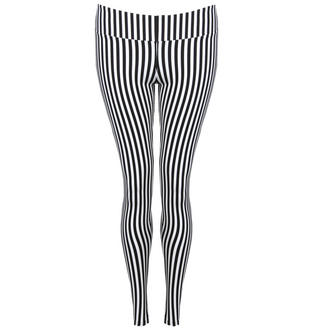 View Item Monochrome Thin Striped Leggings