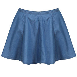 View Item Blue Denim Skater Skirt