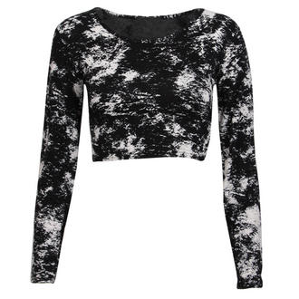 View Item Abstract Print Crop Top
