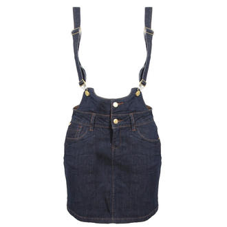 View Item Dark Blue Denim Dungaree Dress