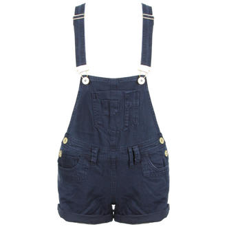 View Item Navy Denim Dungaree Playsuit