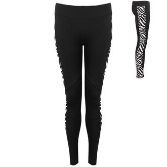 View Item Black High Waist Leggings with Zebra Print Panel