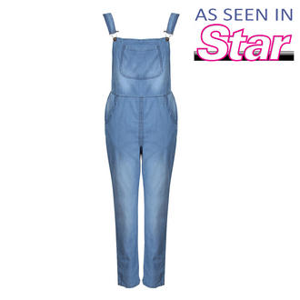 View Item Light Weight Denim Dungaree Jumpsuit