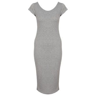 View Item Light Grey Jersey Midi Dress