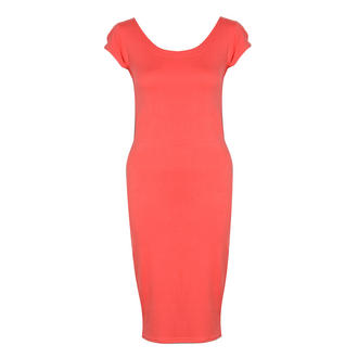 View Item Coral Jersey Midi Dress