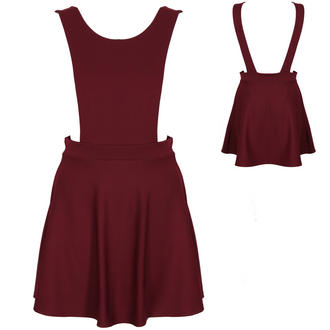 View Item Wine Pinafore Skater Dress