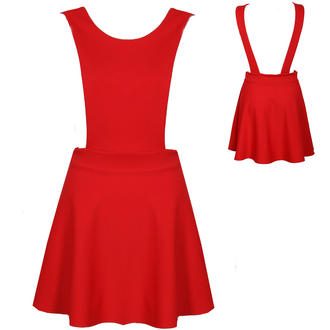 View Item Red Pinafore Skater Dress