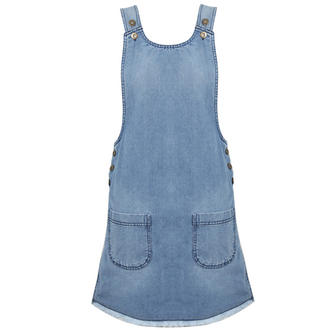 View Item Blue Denim Dungaree Dress