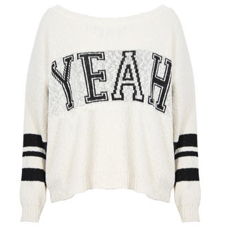 View Item Cream YEAH Knitted Jumper