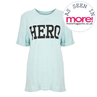 View Item Mint Oversized 'Hero' Tee