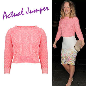 View Item Pink Cropped Knitted Jumper