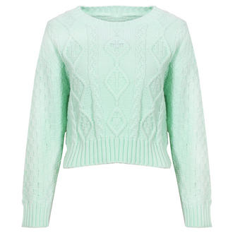 View Item Mint Cropped Knitted Jumper
