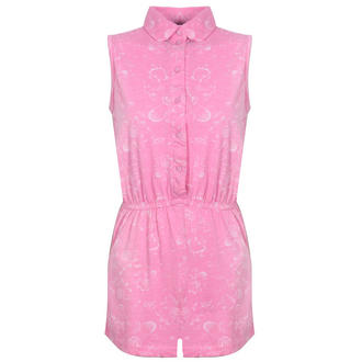 View Item Pink Floral Sleeveless Playsuit