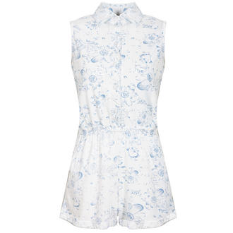 View Item White Floral Sleeveless Playsuit