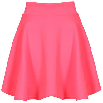View Item Neon Pink Scuba Skater Skirt