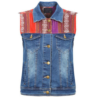 View Item Denim Aztec Gilet