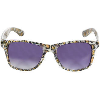 View Item Orange Cheetah Wayfarer Sunglasses