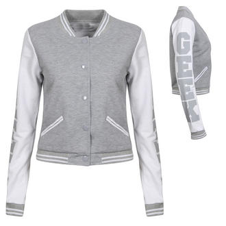 View Item Grey GEEK Baseball Jacket