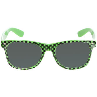 View Item Green Checkered Wayfarer Sunglasses