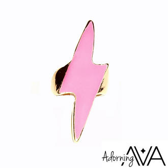 View Item Pink Lightning Bolt Ring