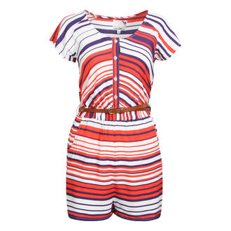View Item Striped Belted Playsuit