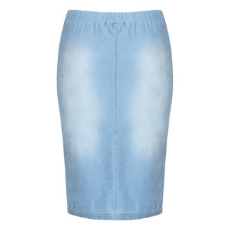View Item Faded Denim Pencil Skirt