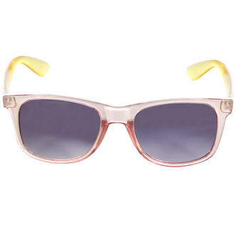 View Item Pink and Yellow Transparent Wayfarer Sunglasses