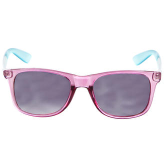 View Item Pink and Blue Transparent Wayfarer Sunglasses