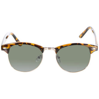 View Item Brown Half Rim Geek Sunglasses