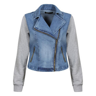 View Item Blue Denim Biker Jacket