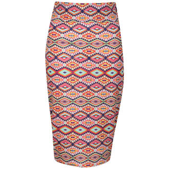 View Item Aztec Print Multi Pencil Skirt Colour