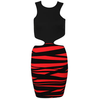 View Item Red Cut Out Bodycon Dress