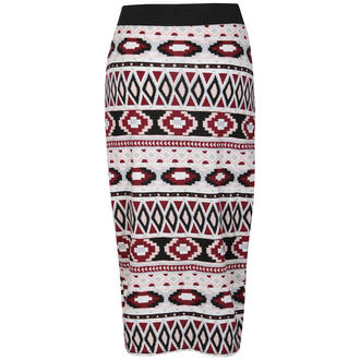 View Item Tribal Print Midi Skirt