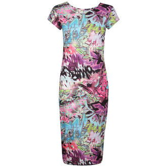 View Item Graffiti Print Midi Dress