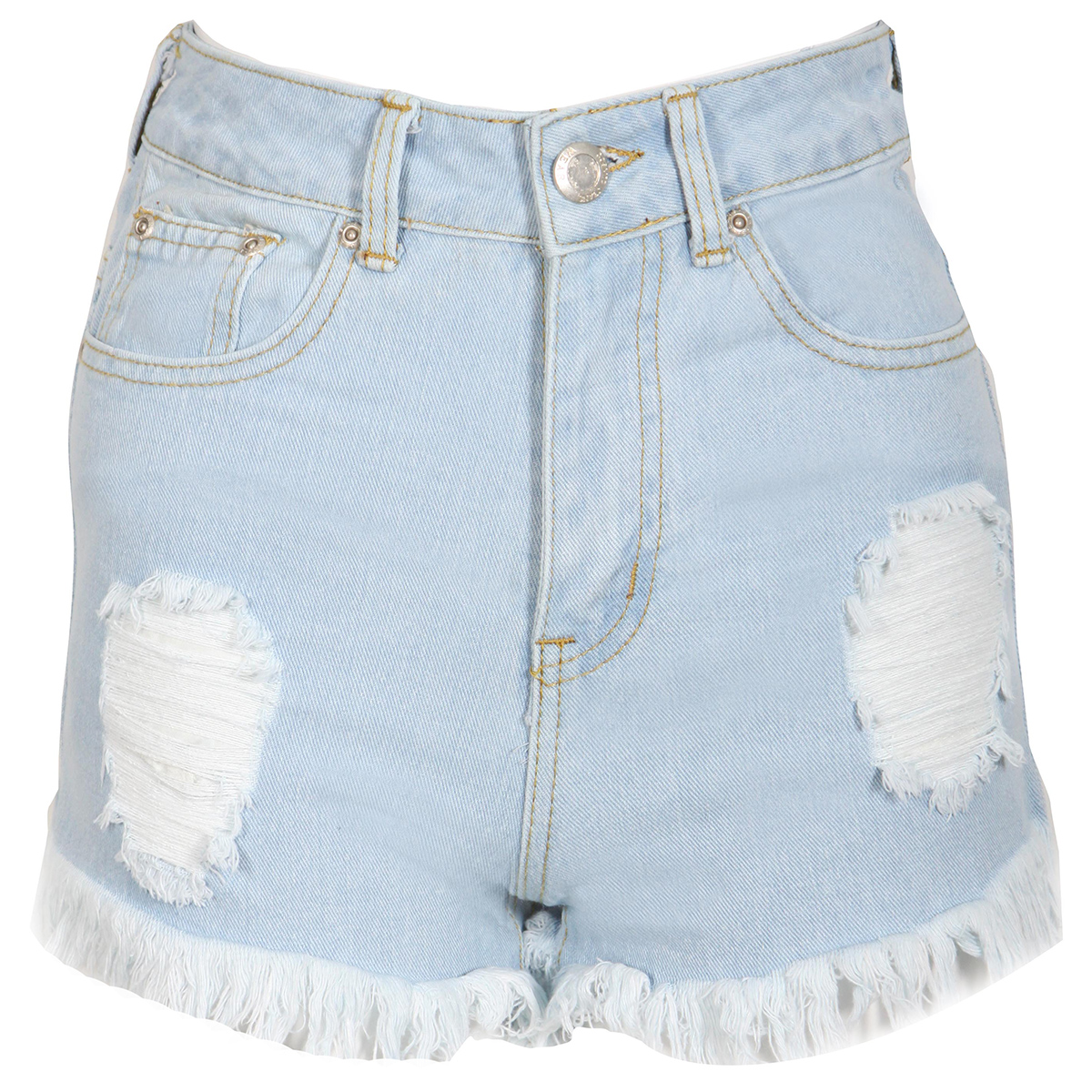 High Waisted Ripped Denim Shorts Preview