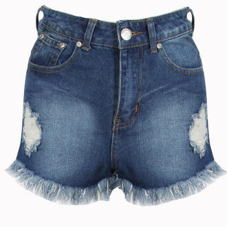 View Item High Waisted Ripped Denim Shorts
