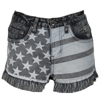 View Item USA Flag Distressed Denim Hotpants