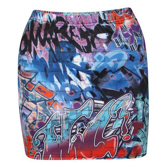 View Item Graffiti Print Mini Skirt