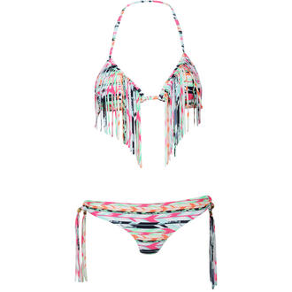 View Item Pink Aztec Print Triangle Bikini