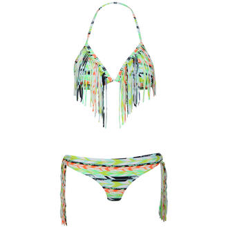 View Item Green Aztec Print Triangle Bikini