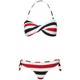 View Item Striped Bandeau Bikini