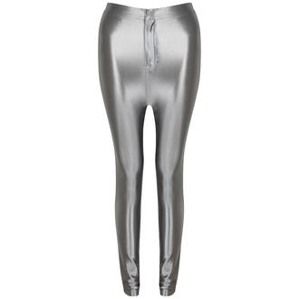 View Item Grey Shiny High Waisted Disco Pants